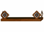 "38"" Diamond Copper Concho Metal Wall Shelf with Ledge"