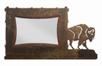 "4"" x 6"" Buffalo on the Range Metal Picture Frame"