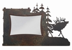 "4"" x 6"" Elk and Pine Trees Metal Picture Frame"