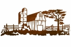 "42"" Barn Yard Metal Wall Art"