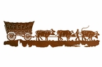 "42"" Conestoga Wagon with Cows Metal Wall Art"