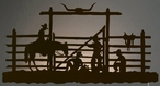 """42"""" Cowboys in the Corral LED Back Lit Lighted Metal Wall Art"""