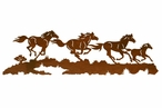 "42"" Running Wild Horses Metal Wall Art"