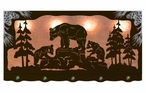 """46"""" Bear Family Scenic Hanging Oval Metal Galley Light"""
