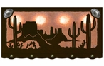 "46"" Desert Scene with Cactus Hanging Oval Metal Galley Light"