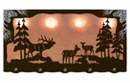 "46"" Elk Family Scenic Hanging Oval Metal Galley Light"