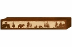 "48"" Bear Family Scenic Metal Window Valance"