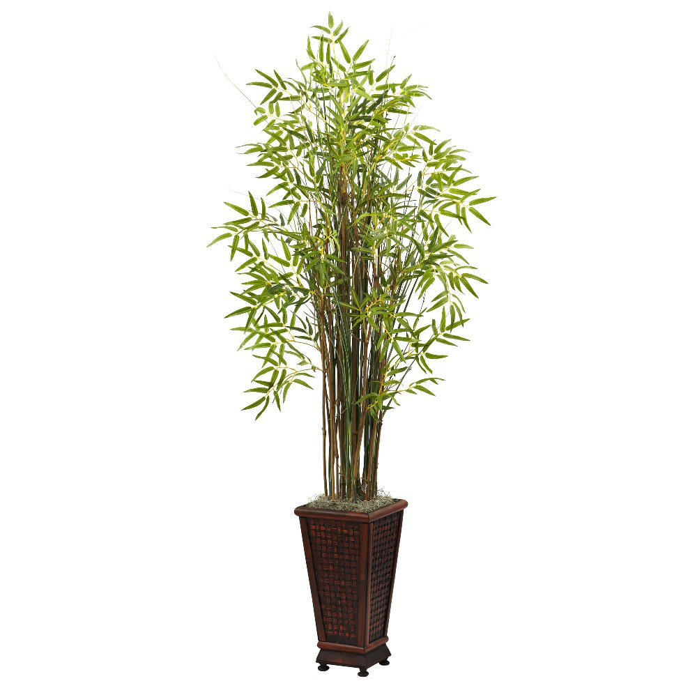 Grass Bamboo Silk Plant With Decorative Planter Artificial