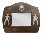 "5"" x 7"" Burnished Cowboy Metal Picture Frame"