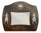"5"" x 7"" Burnished Cowgirl Metal Picture Frame"