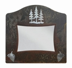 "5"" x 7"" Burnished Pine Trees Metal Picture Frame"