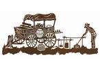 "57"" Old West Chuck Wagon Metal Wall Art"