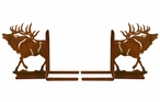 "6"" Walking Elk Metal Bookends"