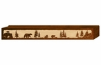 "60"" Bear Family Scenic Metal Window Valance"