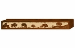 "60"" Buffalo Family Scenic Metal Window Valance"