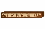 "60"" Deer Family Scenic Metal Window Valance"
