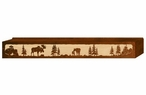 "60"" Moose Family Scenic Metal Window Valance"