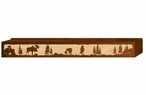 "72"" Moose Family Scenic Metal Window Valance"