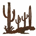 "8"" Desert Cactus Metal Wall Art"
