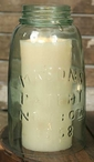 "8"" Half Gallon Mason Jar Cloche Pillar Candle Holders, Set of 2"