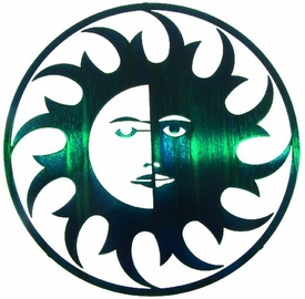 "8"" Sun Moon Rays Metal Wall Art by Joel Sullivan"