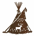 "8"" Teepee Metal Wall Art"
