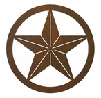 "8"" Texas Star Metal Wall Art"