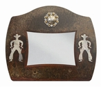 "8"" x 10"" Burnished Cowboy Metal Picture Frame"