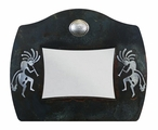 "8"" x 10"" Burnished Kokopelli Metal Picture Frame"