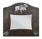 "8"" x 10"" Burnished Moose Metal Picture Frame"