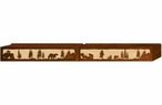 "84"" Bear Family Scenic Metal Window Valance"