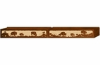 "84"" Buffalo Family Scenic Metal Window Valance"
