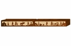 "96"" Elk Family Scenic Metal Window Valance"