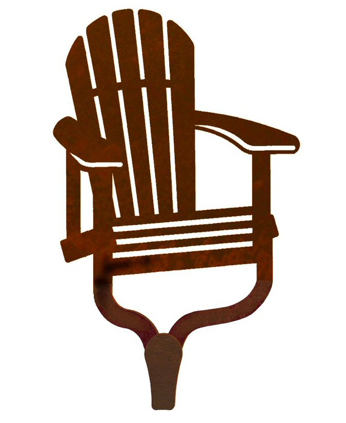 Adirondack Chair Single Metal Wall Hook