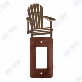 Adirondack Chair Single Rocker Metal Switch Plate Cover