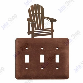 Adirondack Chair Triple Toggle Metal Switch Plate Cover