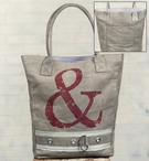 Ampersand Stonewashed Canvas Grocery Market Tote Bag