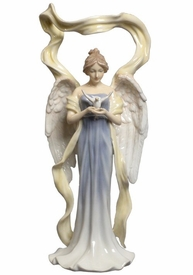 Angel Facing Front Holding Dove Porcelain Sculpture