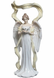 Angel Holding Dove Porcelain Sculpture