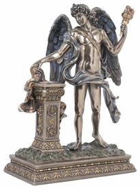 Angel Holding Torch Sculpture
