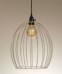 Antique White Oval Wire Pendant Lamp Light