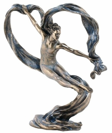 Art Dancer Jumping Sideways Sculpture