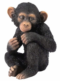 Baby Chimpanzee Sitting Sculpture