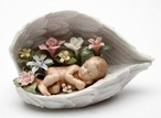 Baby in Guardian Angel Wings Porcelain Sculpture
