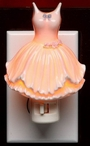 Ballerina Dress Porcelain Night Lights, Set of 2
