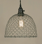 Barn Roof Chicken Wire Dome Pendant Lamp Light