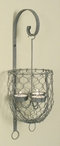 Barn Roof Chicken Wire Tea Light Candle Holder Wall Sconce