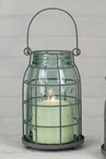 Barn Roof Quart Mason Jar Pillar Candle Holder Cages, Set of 2