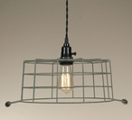 Barn Roof Wire Basket Hanging Pendant Lamp Light