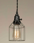 Barn Roof Wire Cage Pendant Lamp Light